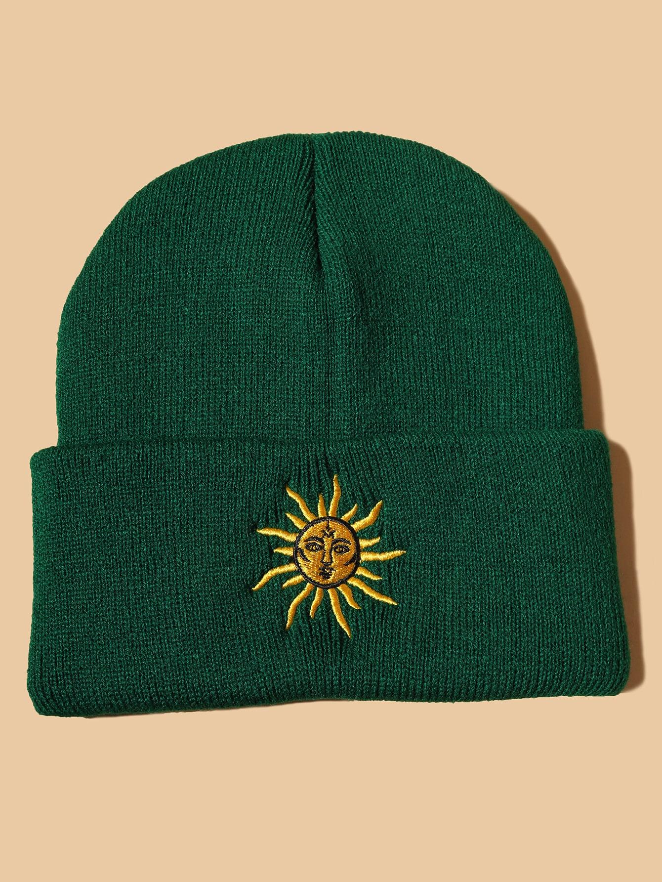 Sun Embroidery Beanie thumbnail