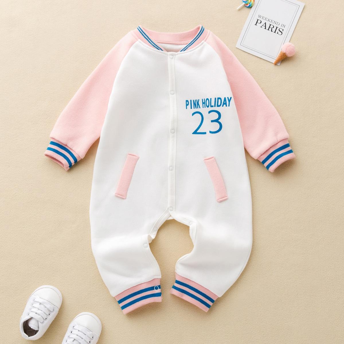 Контрастный цвет спортивный комбинезоны для малышей