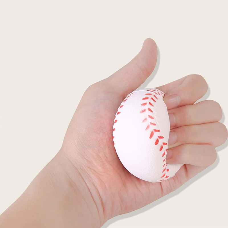 1pc Stress Relief Baseball Squeeze Toy, White