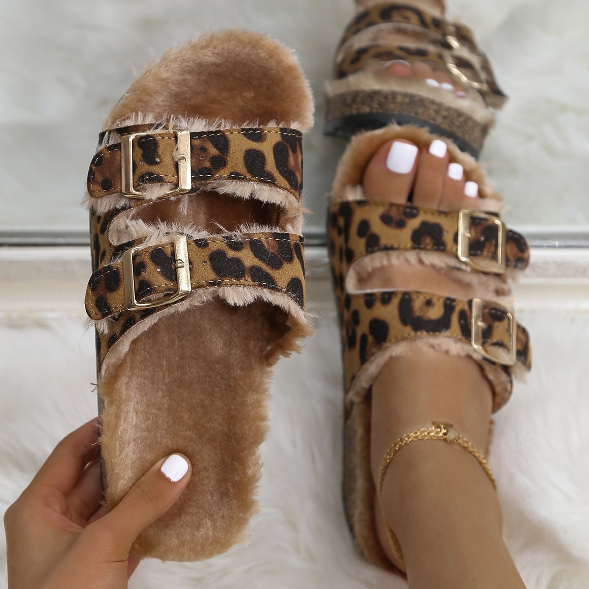 Леопардовый принт сандалии/босоножки