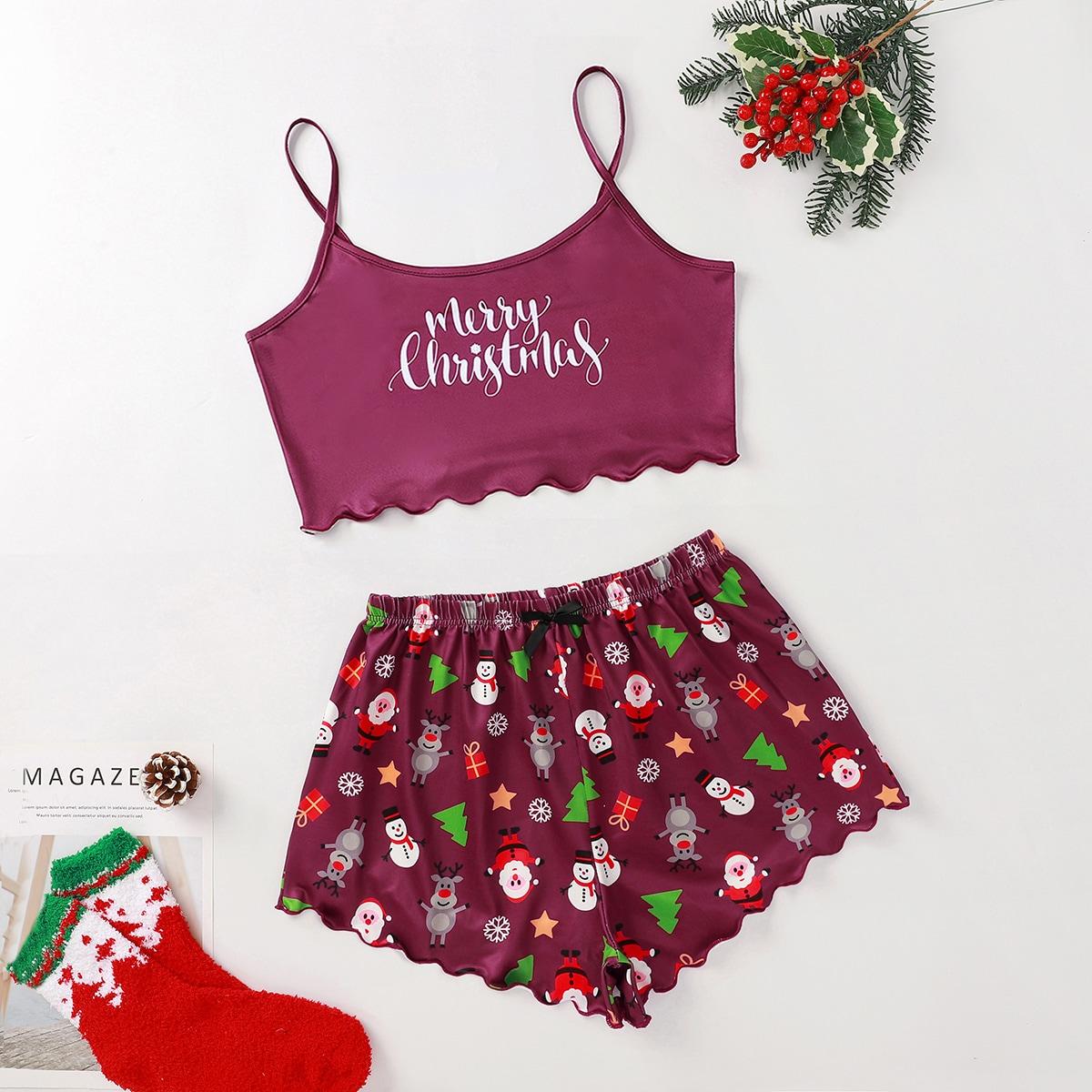 Волнистый край рождество милый пижама