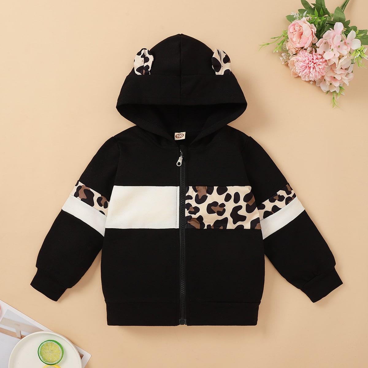 Леопардовый милый куртки для девочек
