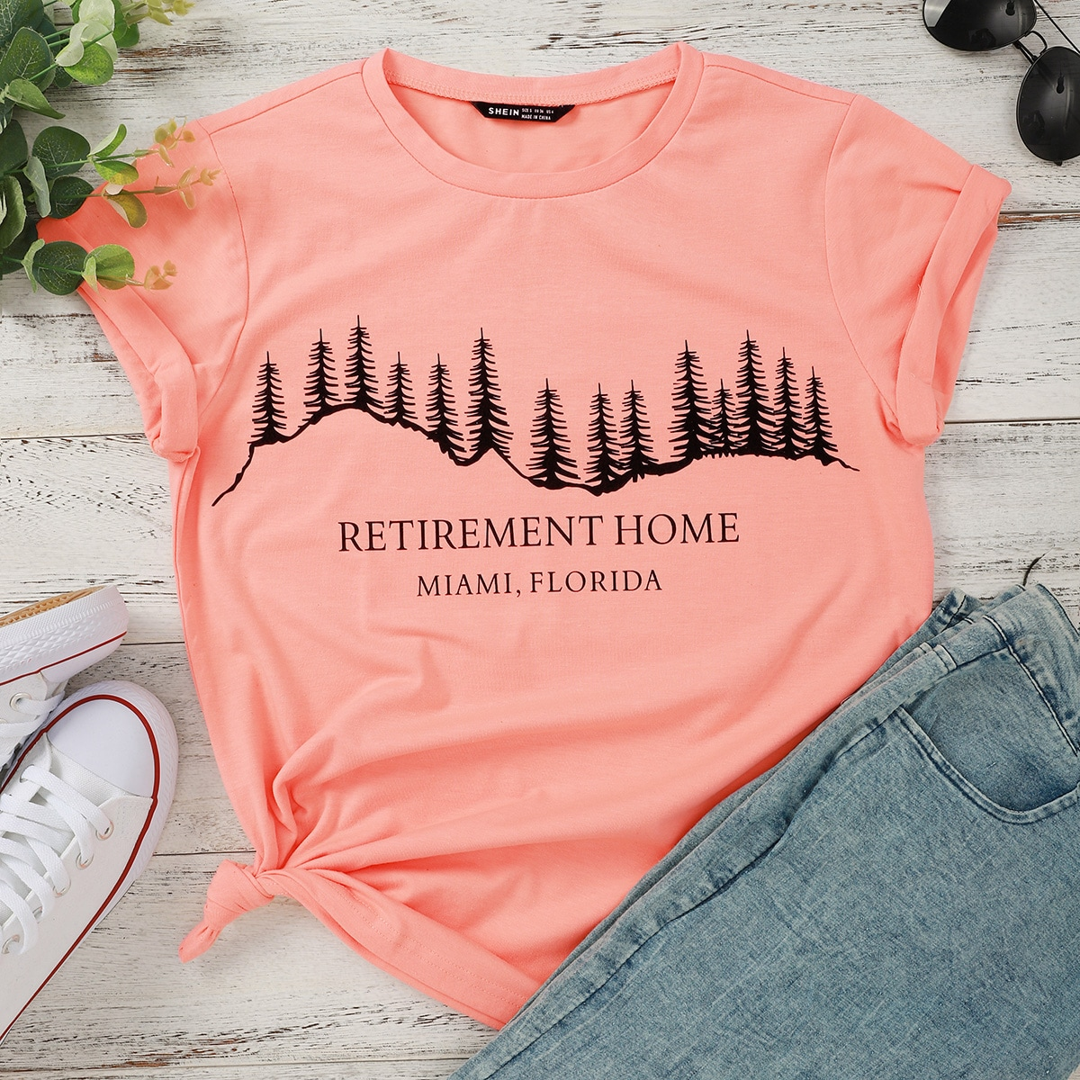 Forest And Letter Graphic Tee