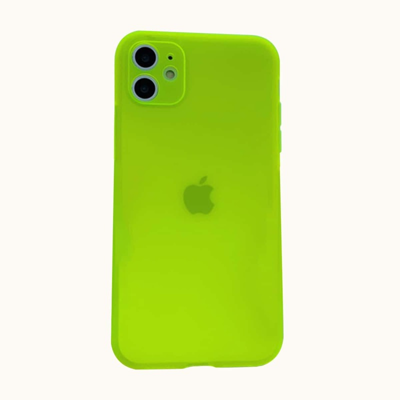 Solid Neon iPhone Case, Lime green neon