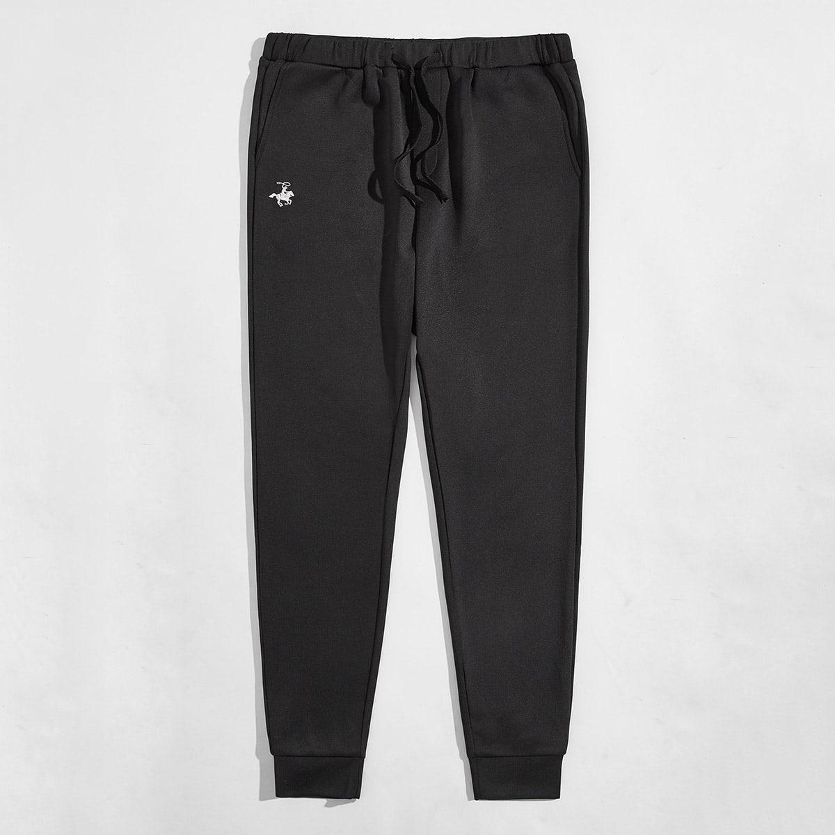 Карман графический принт повседневный мужские брюки