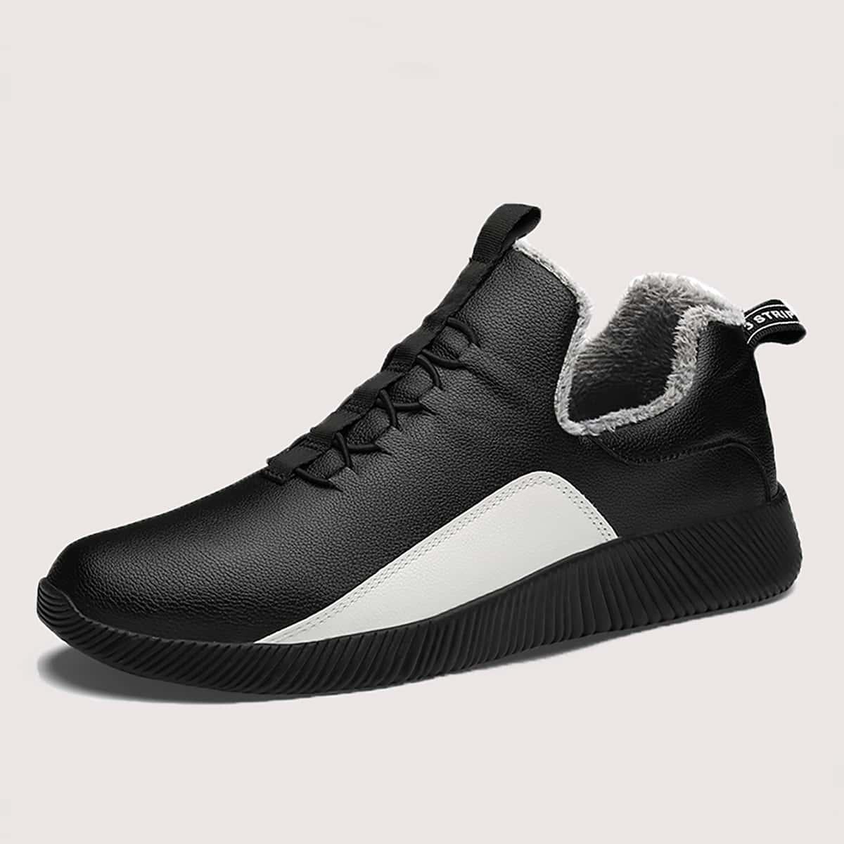 На шнурках контрастный цвет мужские кроссовки