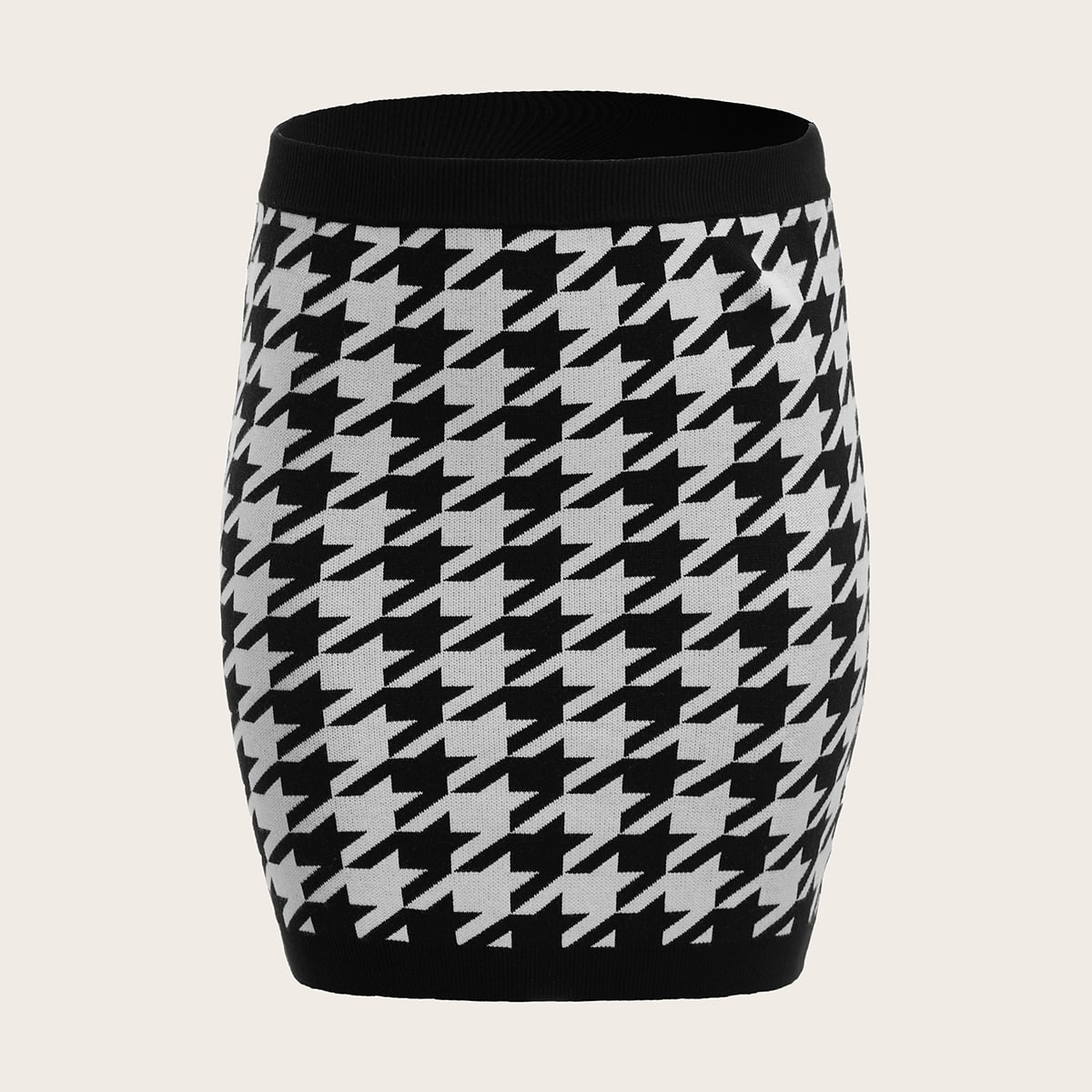 Хаундстут элегантный трикотажные юбки размер плюс