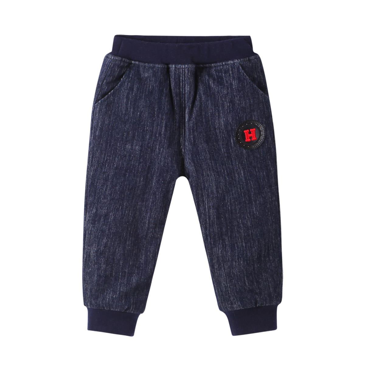 Аппликация буква повседневный джинсы для мальчиков