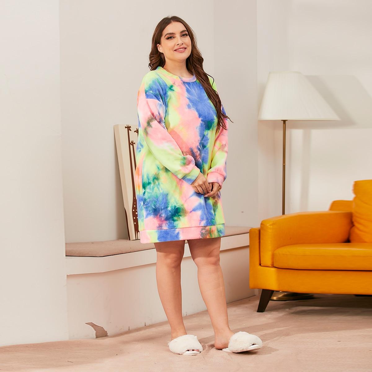 Фланелевая пижама оверсайз в клетку