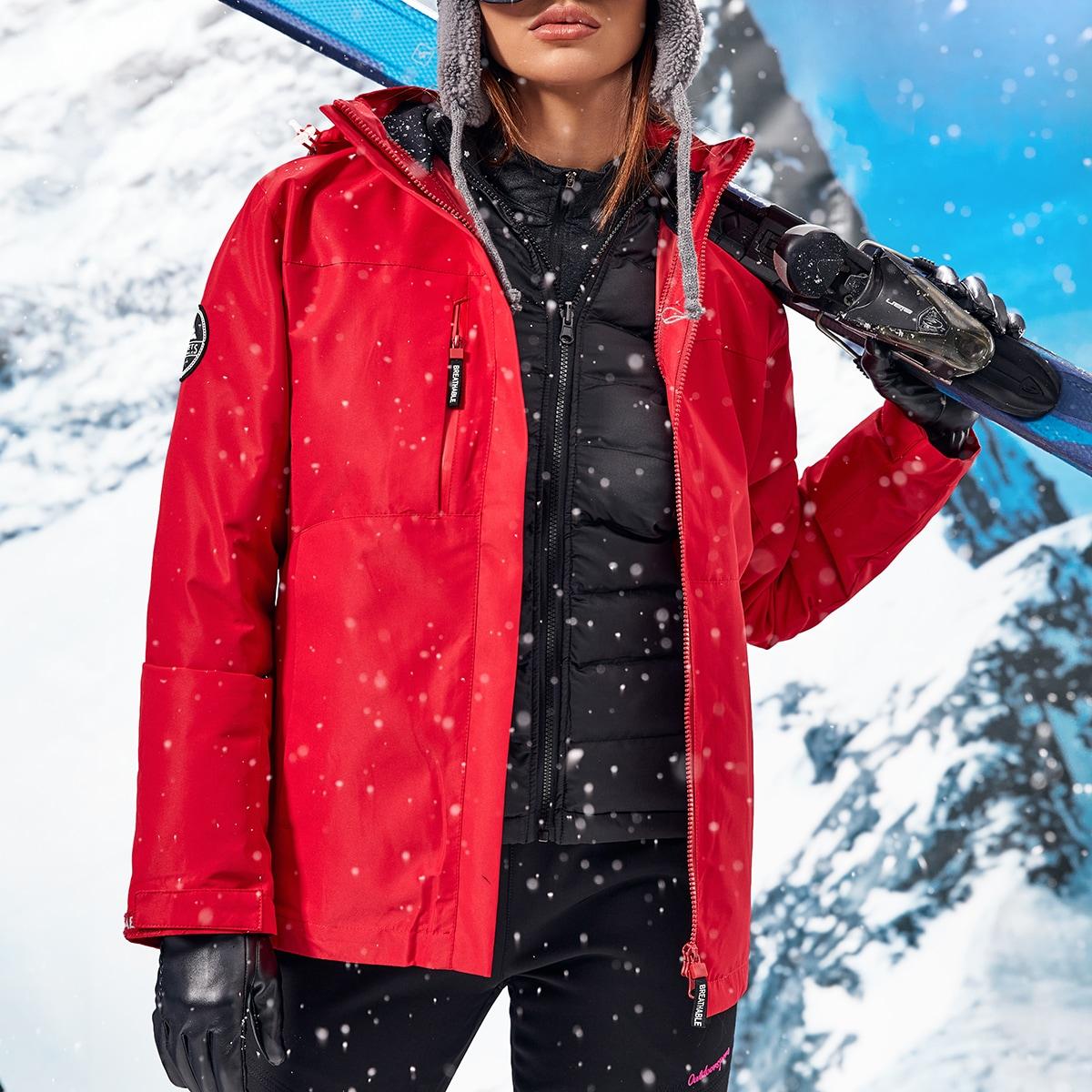 Водонепроницаемая куртка с капюшоном и съемной подкладкой