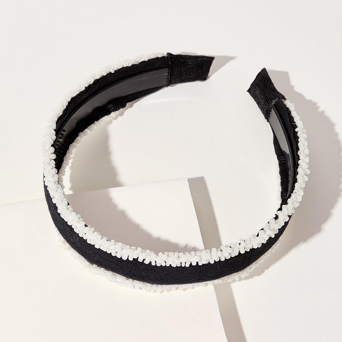 Ободок для волос с искусственными жемчугами