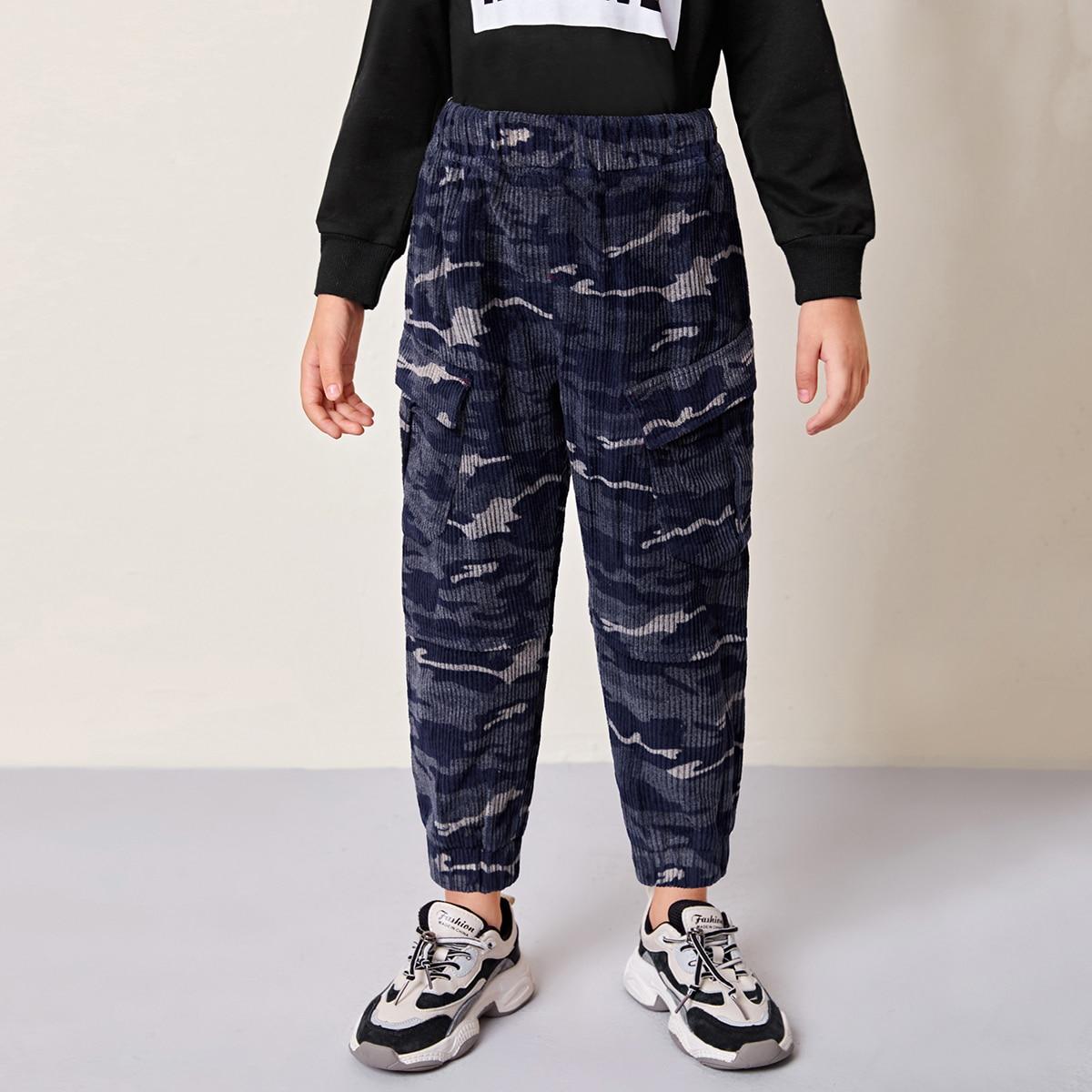 Карман камуфляж повседневный брюки для мальчиков