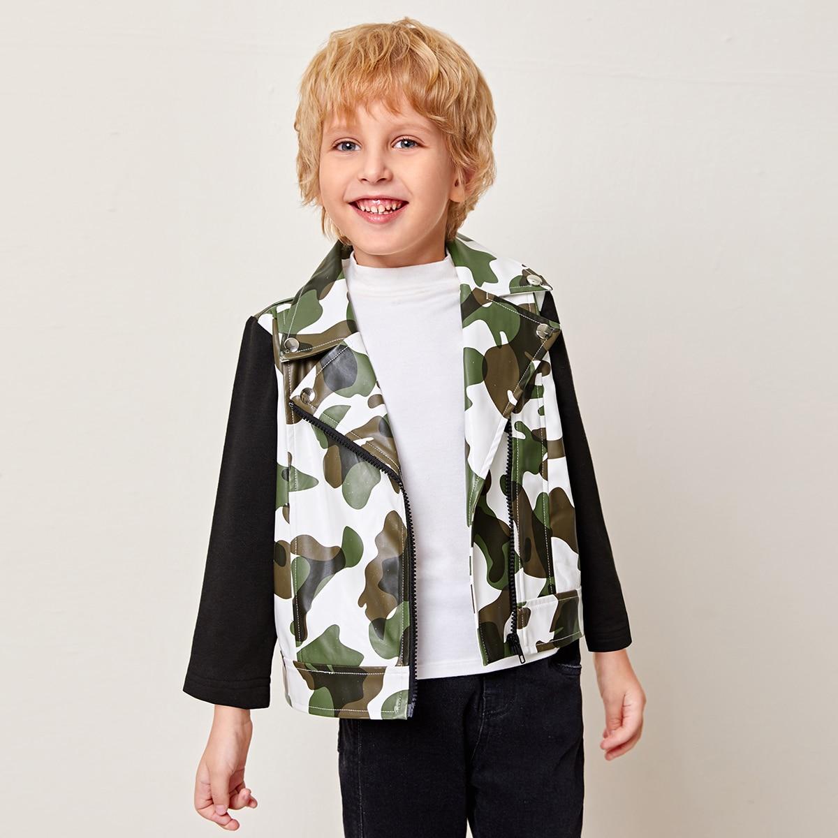 На молнии камуфляж повседневный куртки для мальчиков