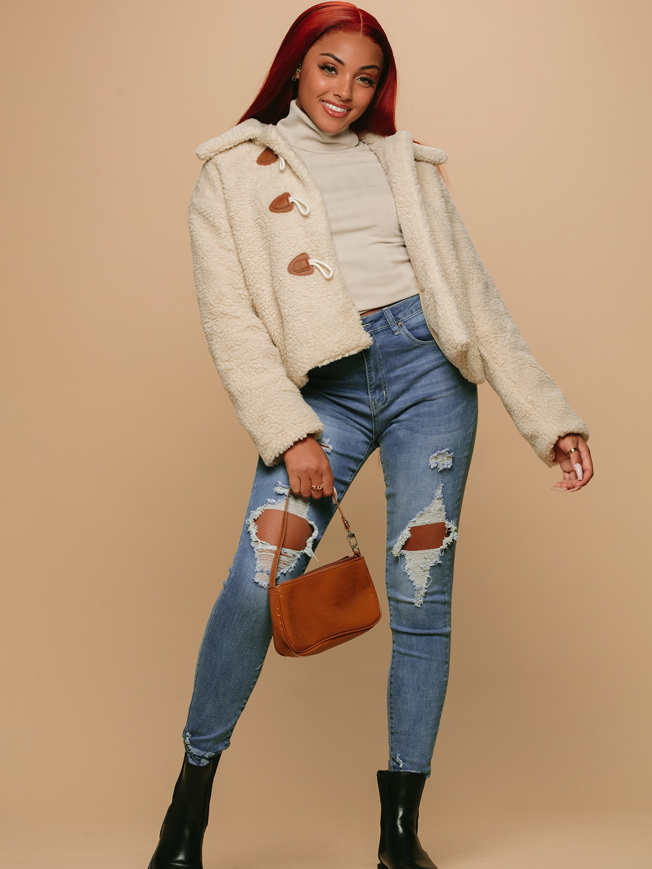 High-Rise Distressed Skinny Jeans thumbnail