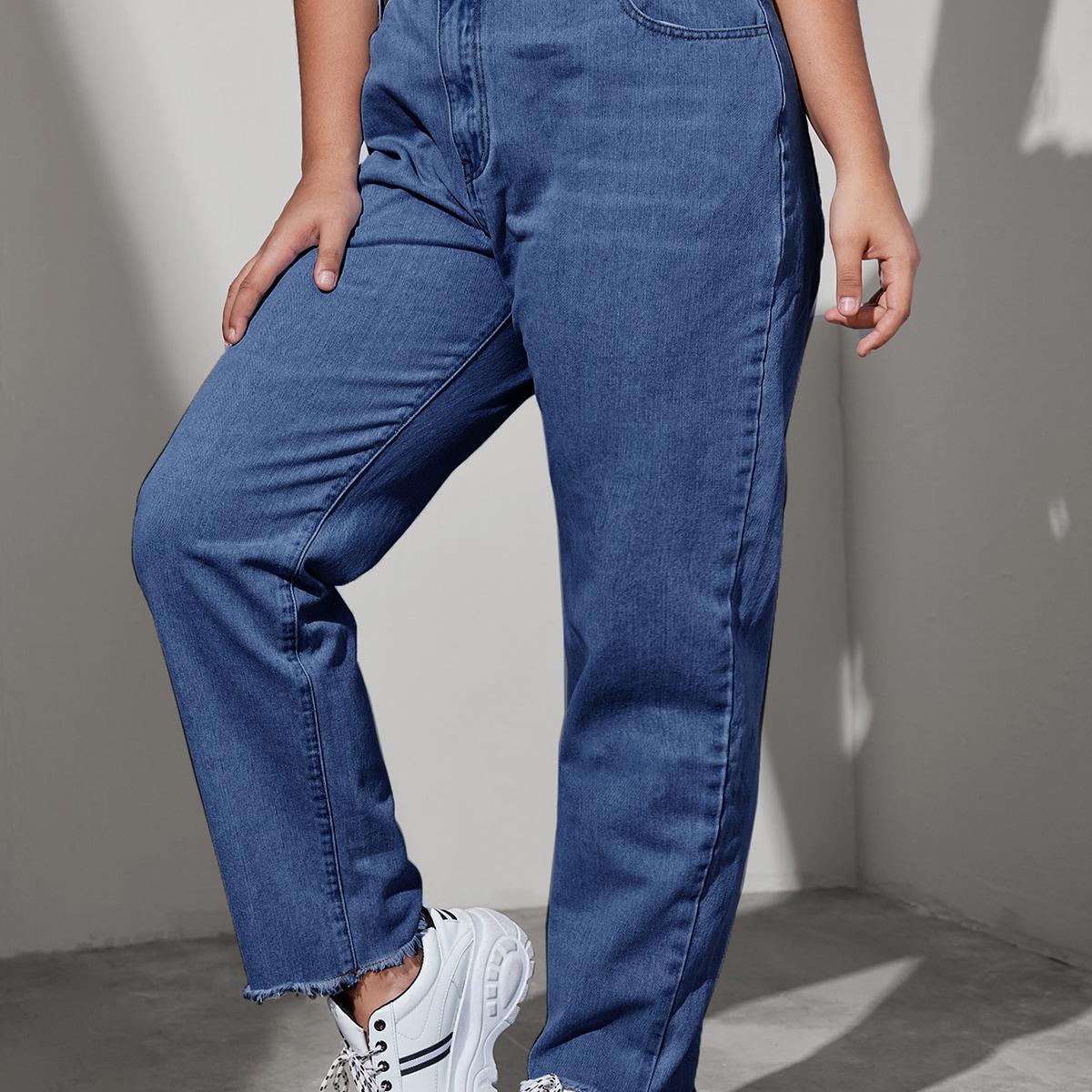 Однотонные джинсы размера плюс