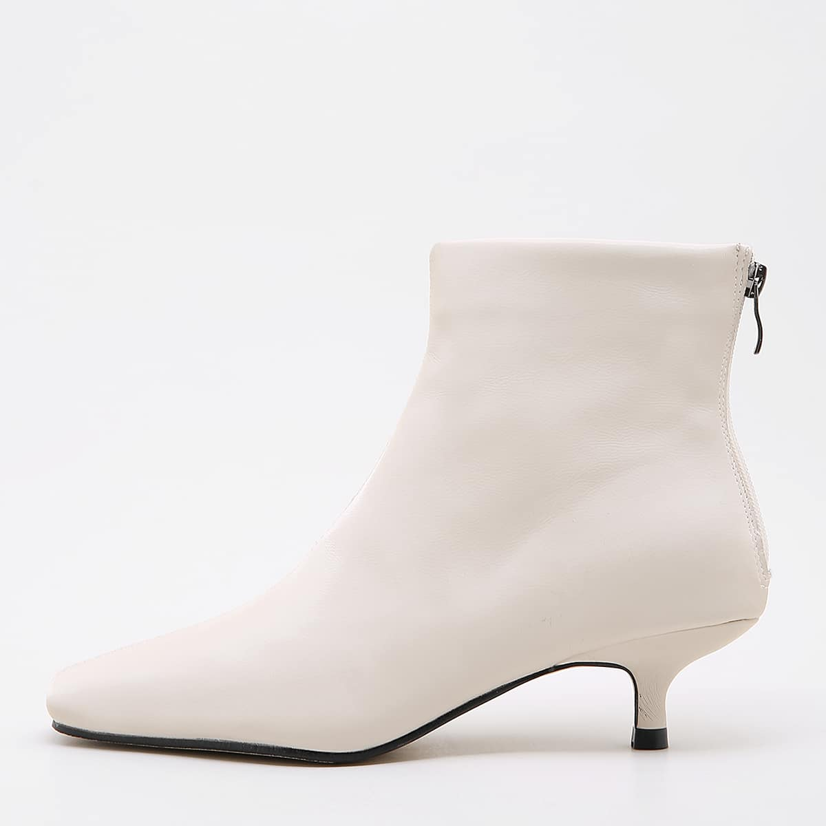 Square Toe Kitten Heeled Ankle Boots