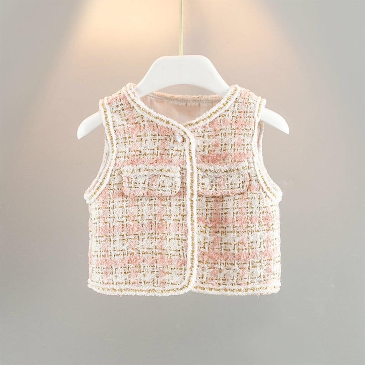 Клетчатый повседневный куртки для девочек
