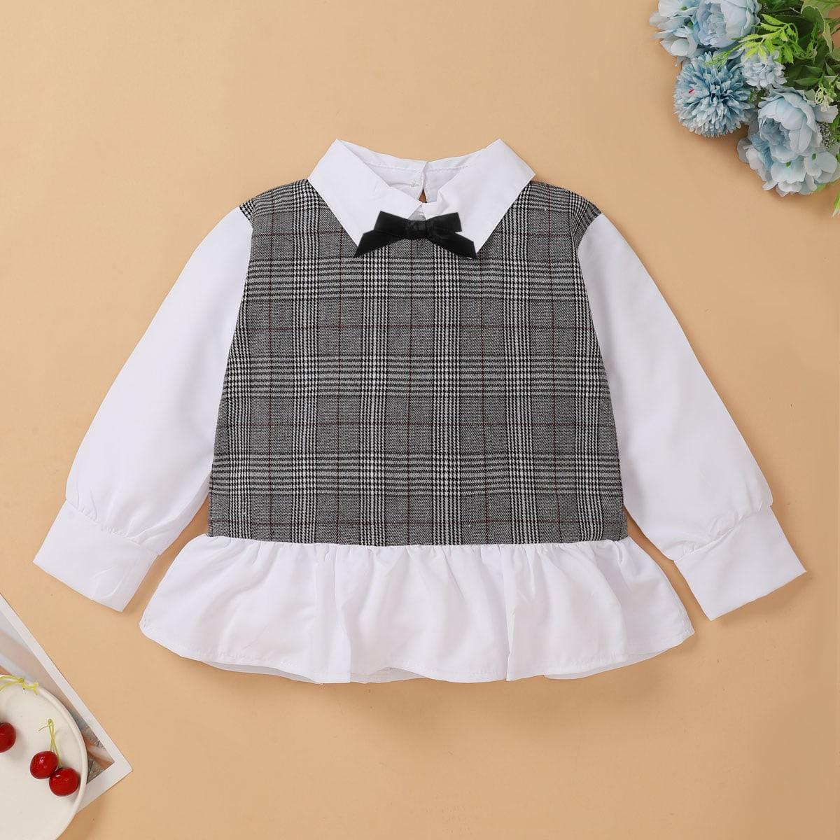 Бант клетчатый институтский блузы для девочек