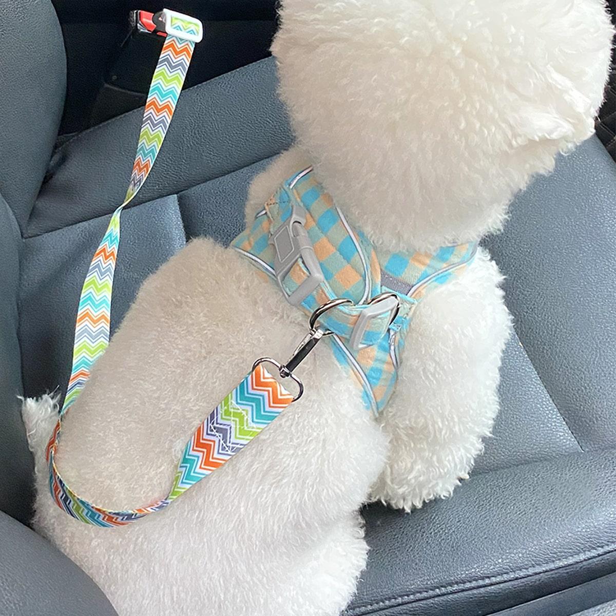 Hund Autositzgürtel mit Chevron Muster