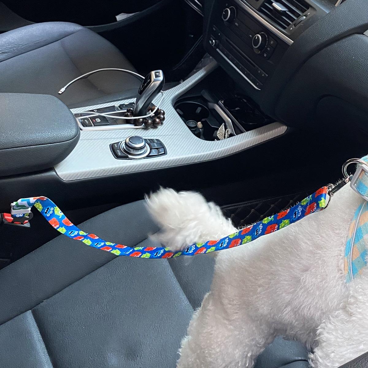 Hund Autositzgürtel mit Karikatur Grafik