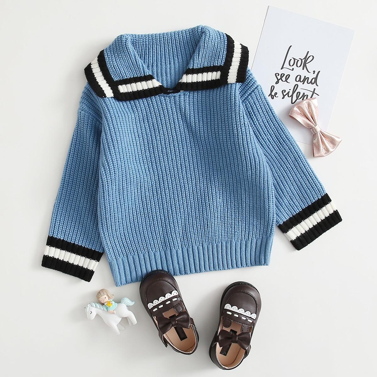 Полосатый институтский свитеры для девочек