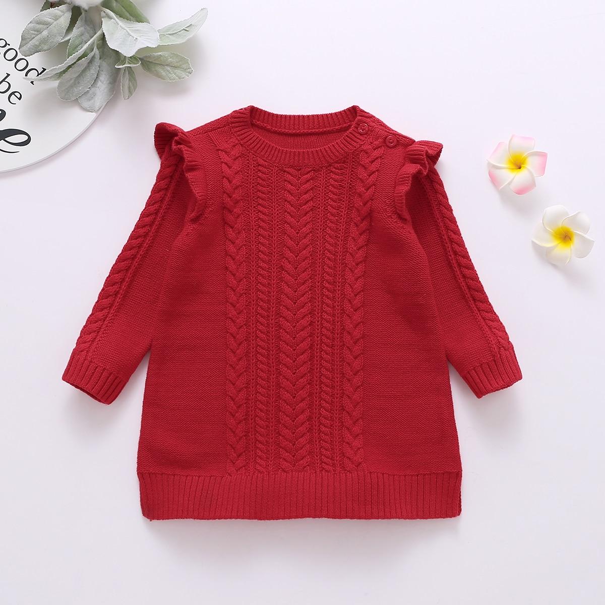 Пугавица одноцветный повседневный свитеры для девочек