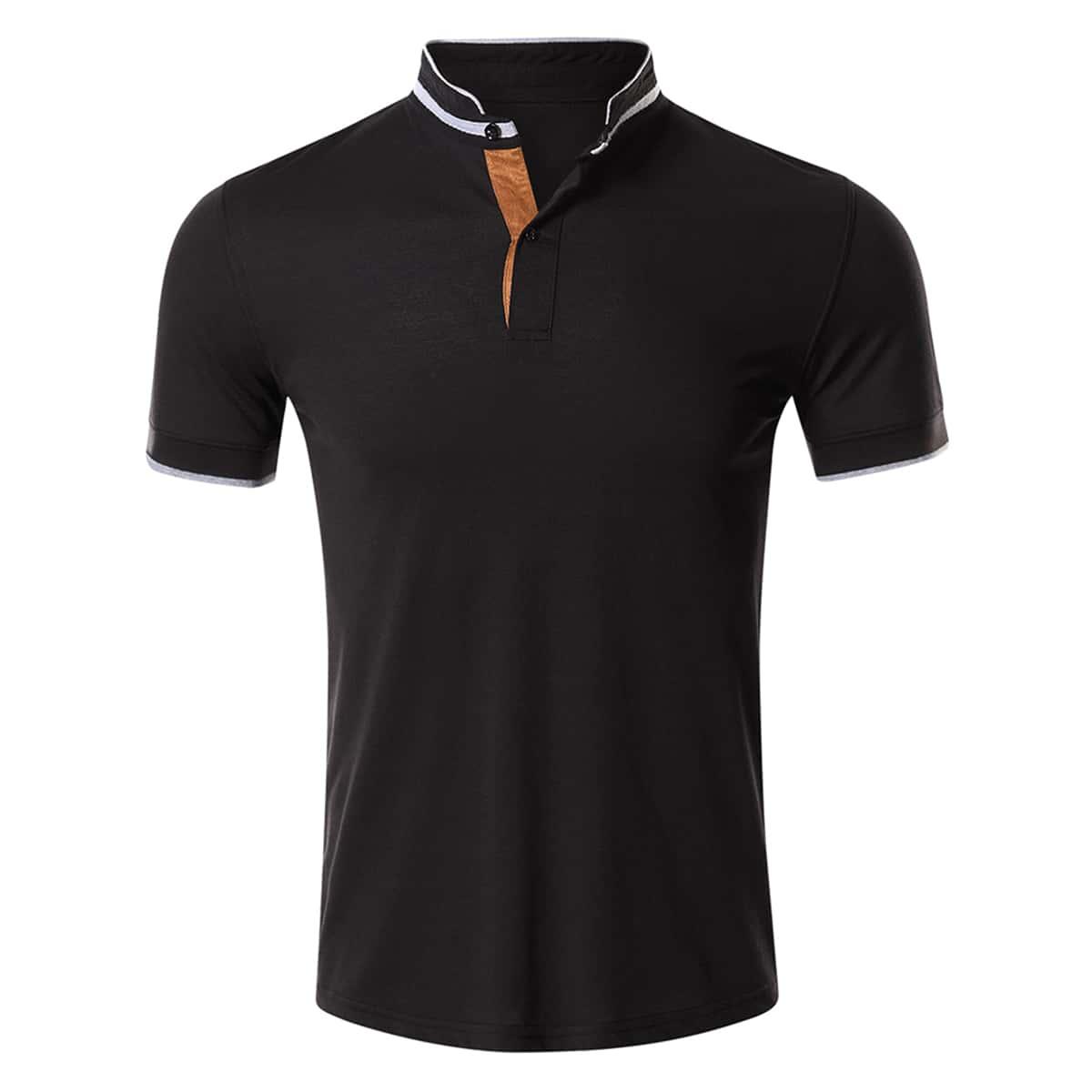 Лента полосатый работа мужская рубашка-поло
