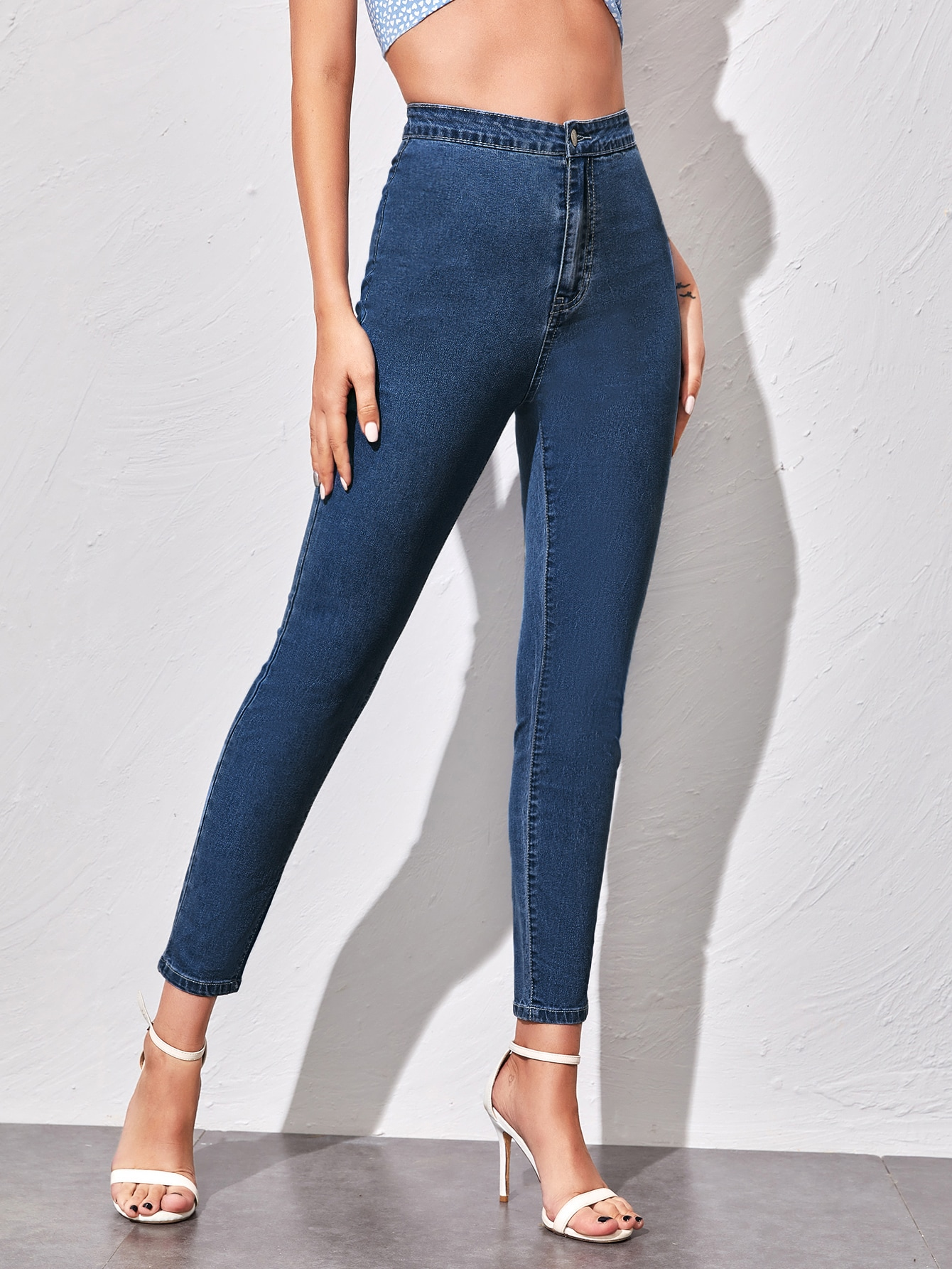 High-Waisted Cropped Skinny Jeans thumbnail