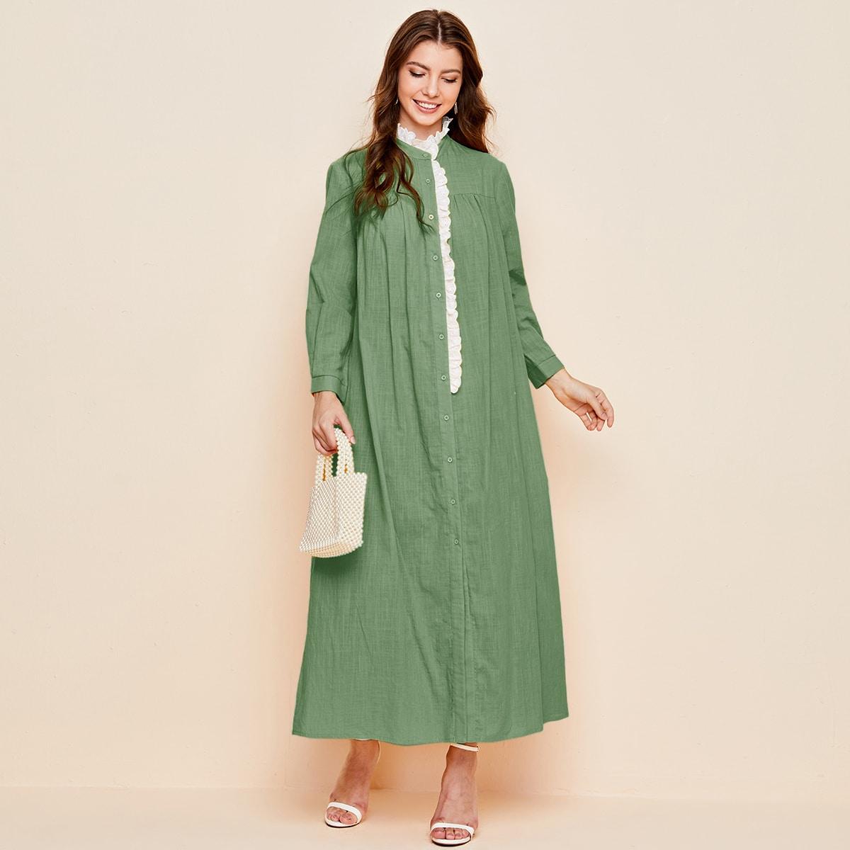 Макси платье с оборками