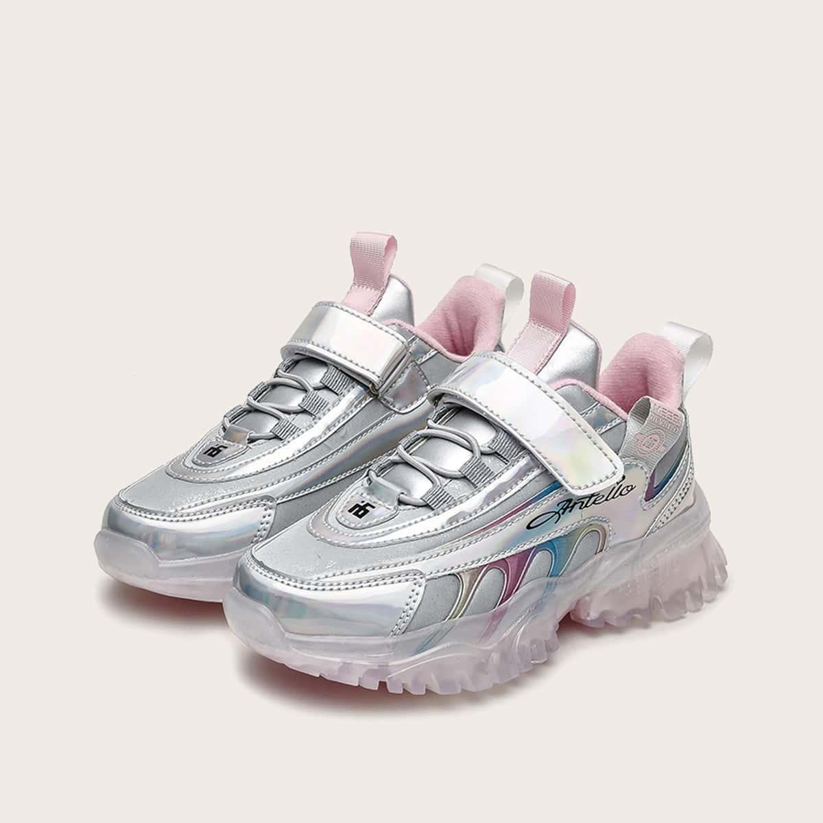 Кроссовки на платформе и плюшевой подкладке для девочек