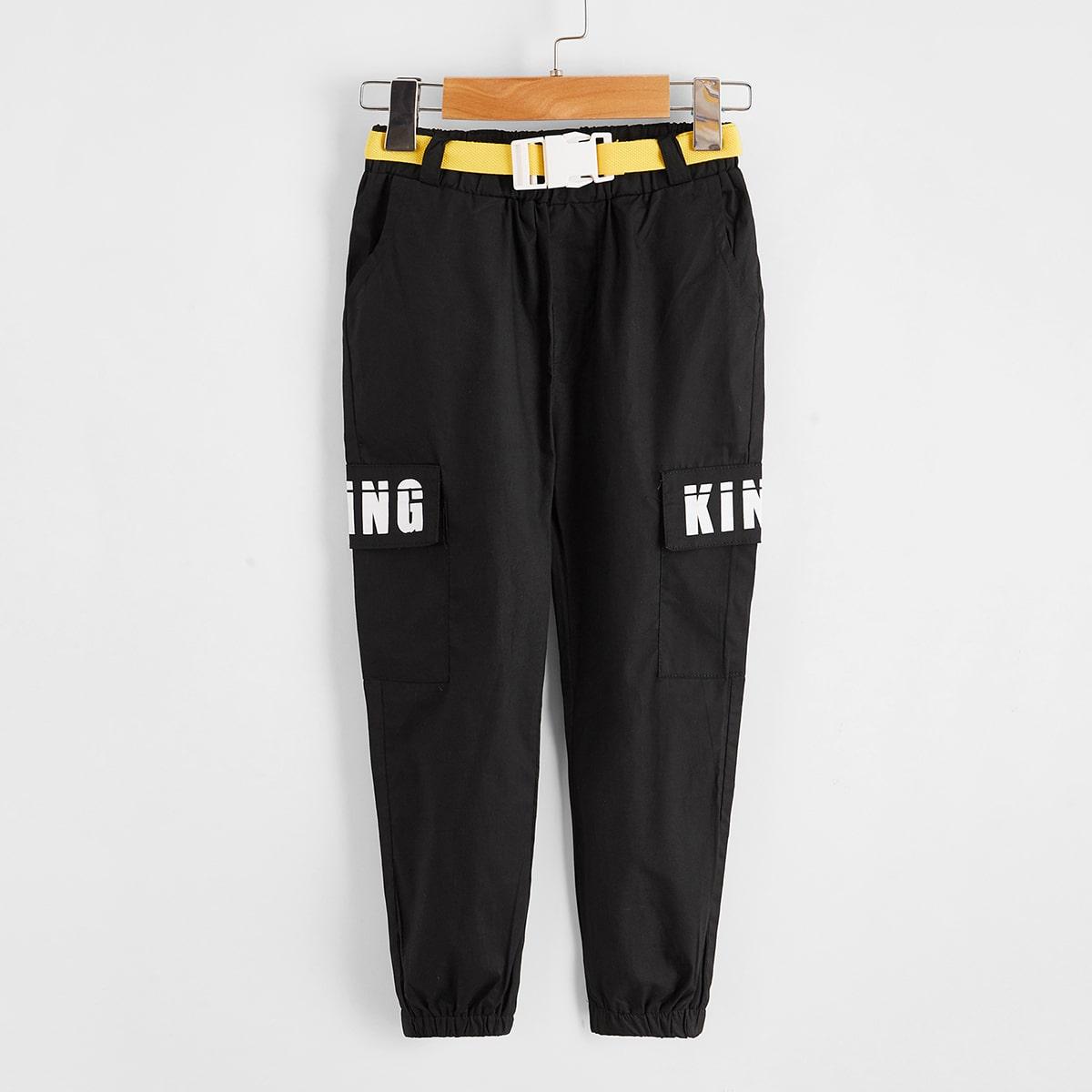 Карман буква повседневный брюки для мальчиков
