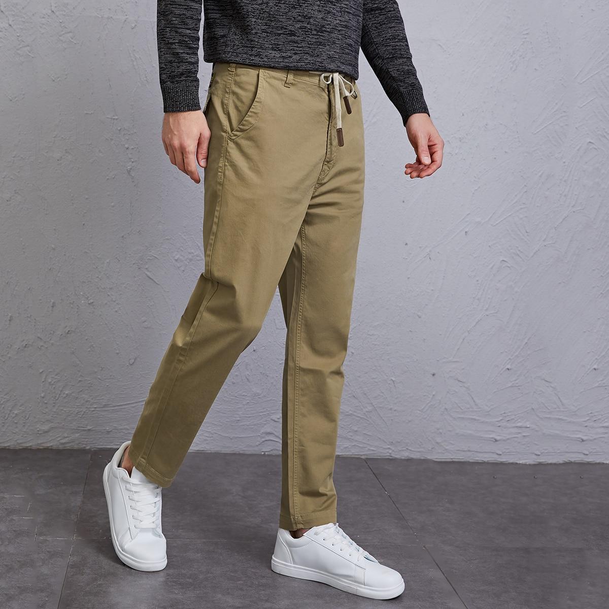 Мужские брюки на кулиске с карманом