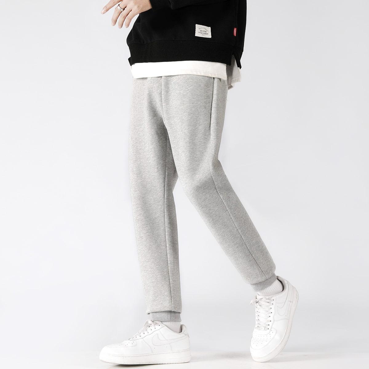 Мужские однотонные спортивные брюки
