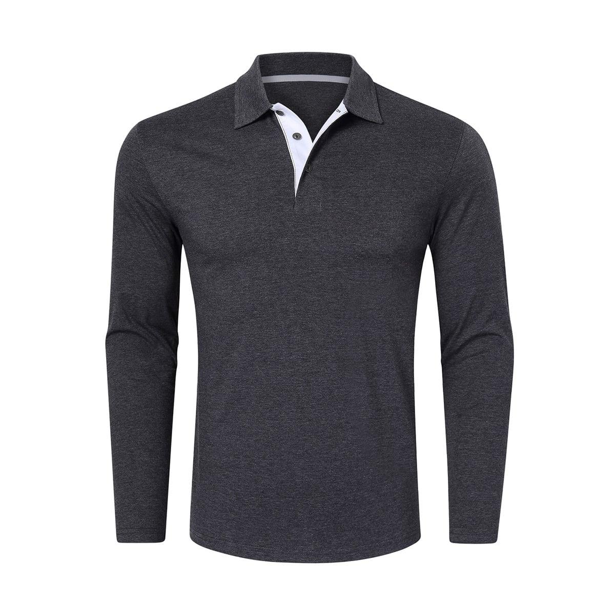 Пуговица одноцветный повседневный мужская рубашка-поло