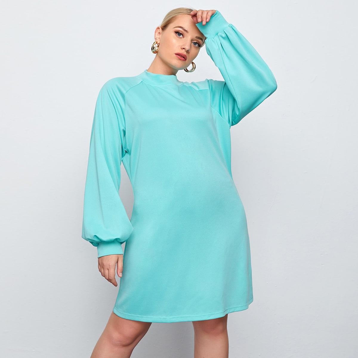 Платье-свитшот размера плюс с рукавом реглан