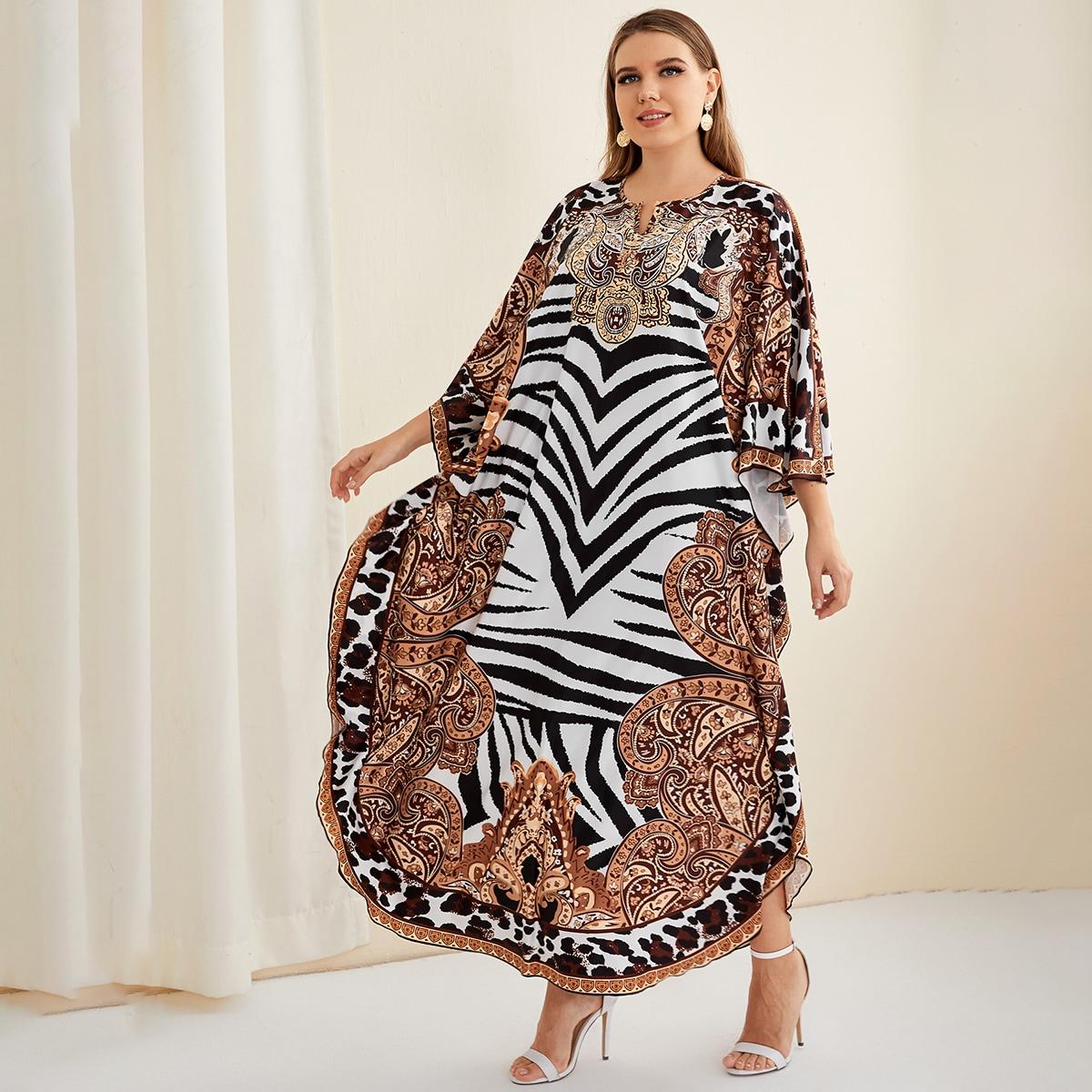 Этнический Скромный Платья размер плюс