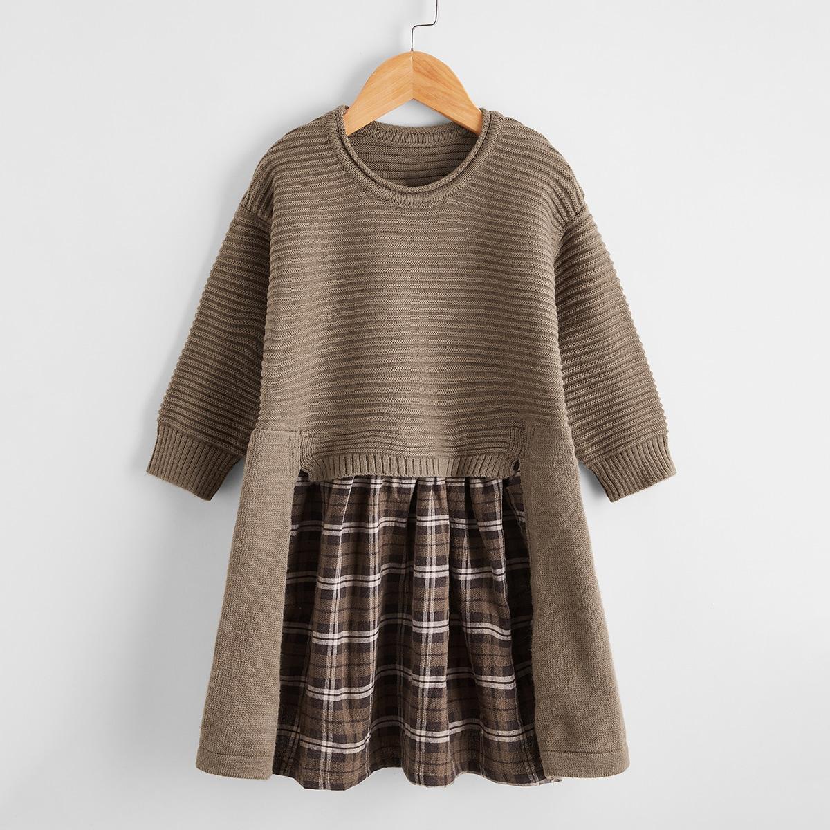 Платье-свитер для девочек