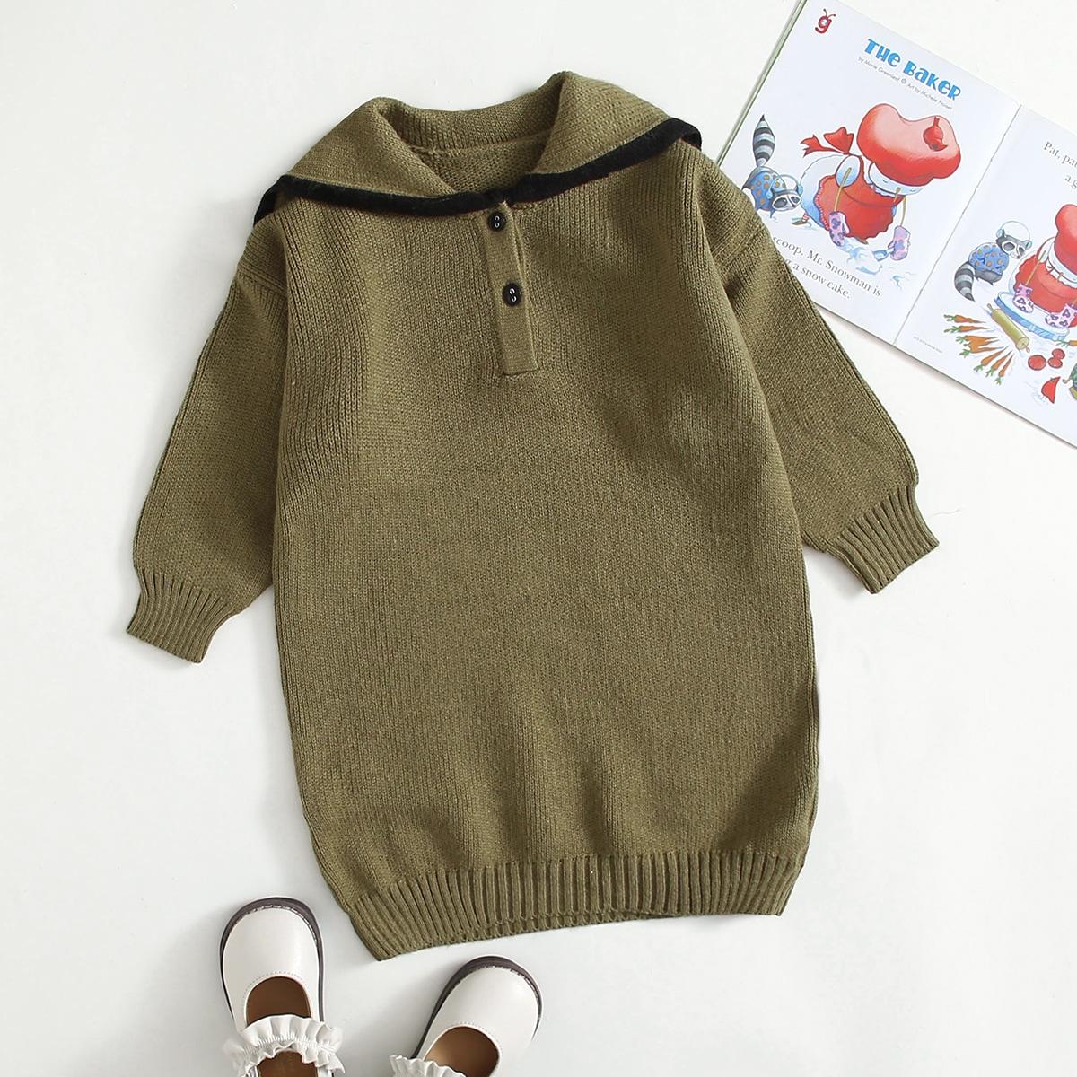 Оригинальное платье-свитер для девочек