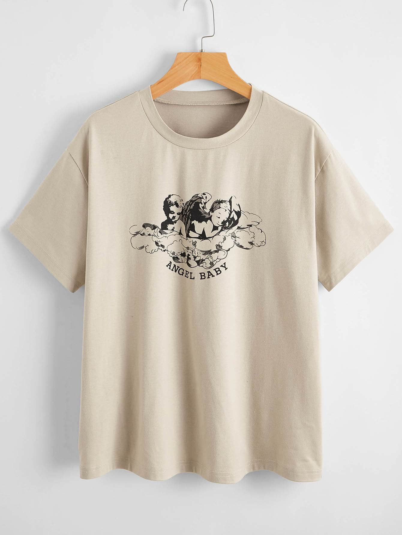 Angel & Letter Graphic Tee thumbnail