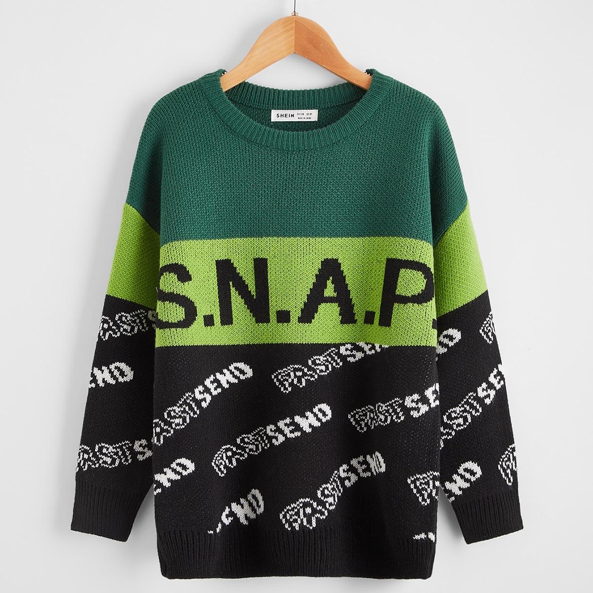 Буква повседневный свитеры для мальчиков