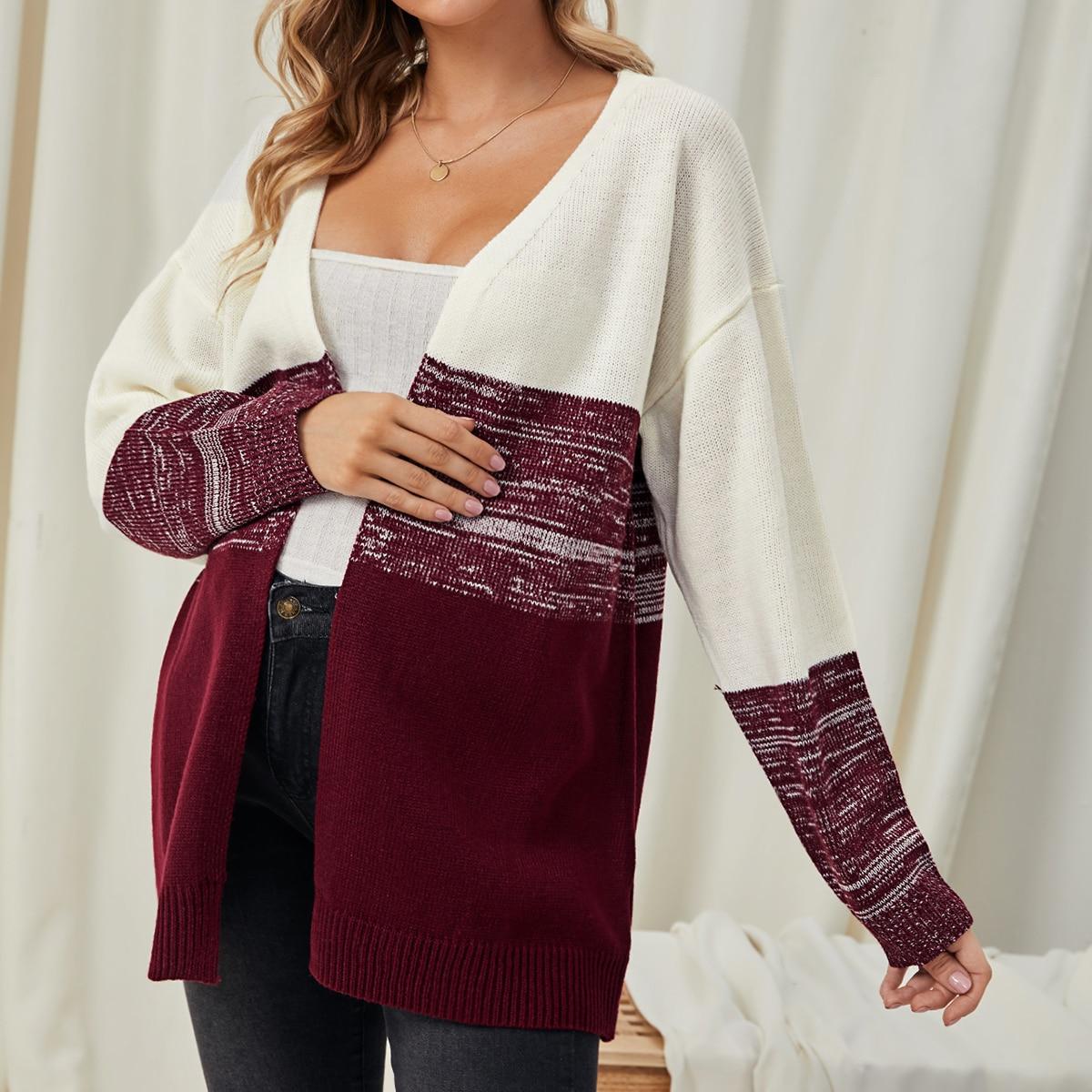 Контрастный цвет повседневный свитеры для беременных