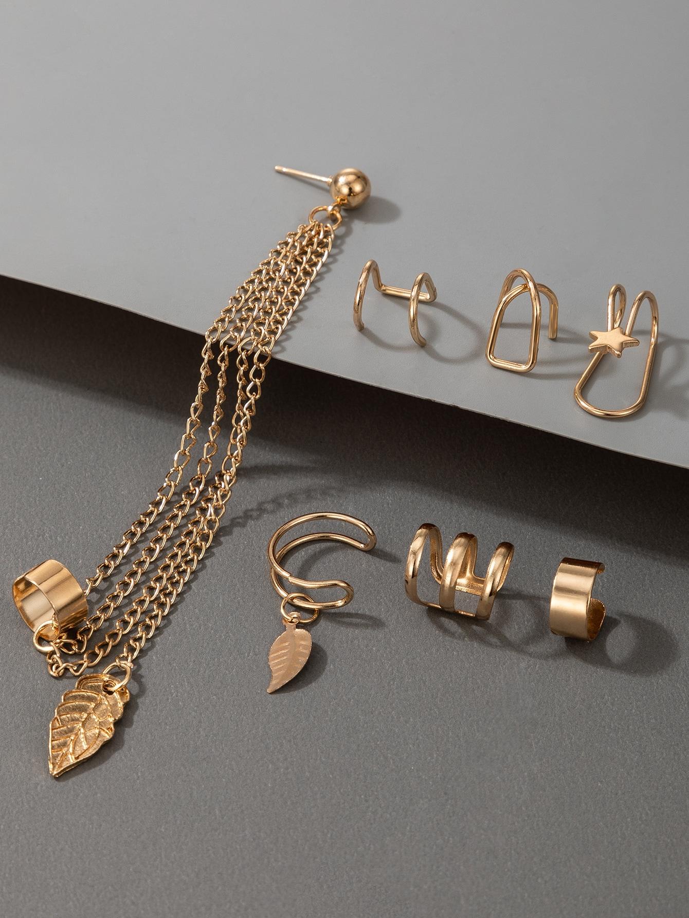7pcs Star Decor Earrings Set thumbnail