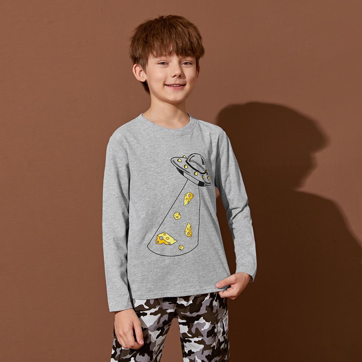 Графический повседневный футболки для мальчиков