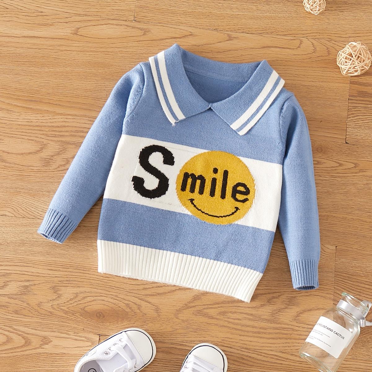 Контрастный цвет повседневный свитеры  для малышей