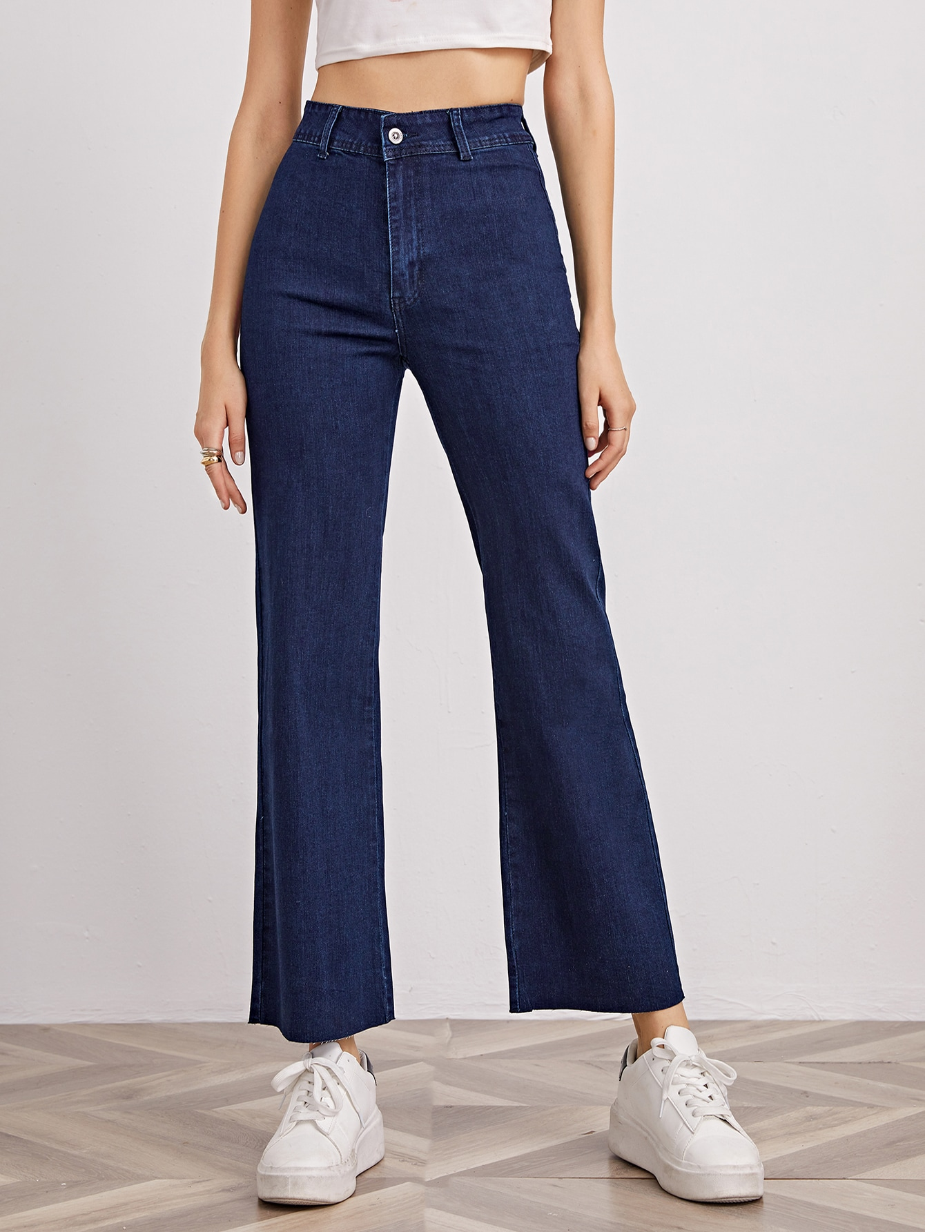 High-Rise Solid Jeans thumbnail