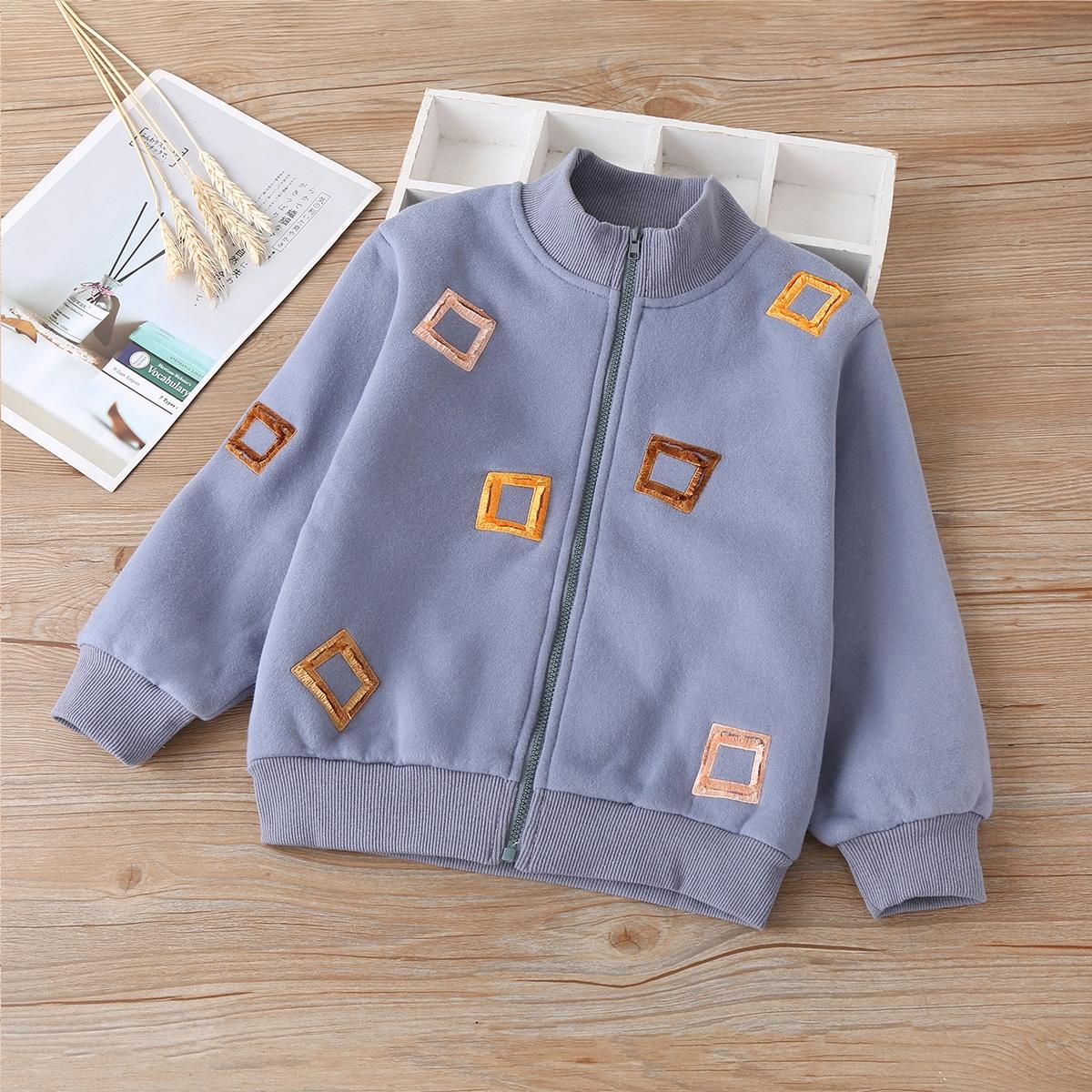 На молнии геометрический повседневный куртки для мальчиков
