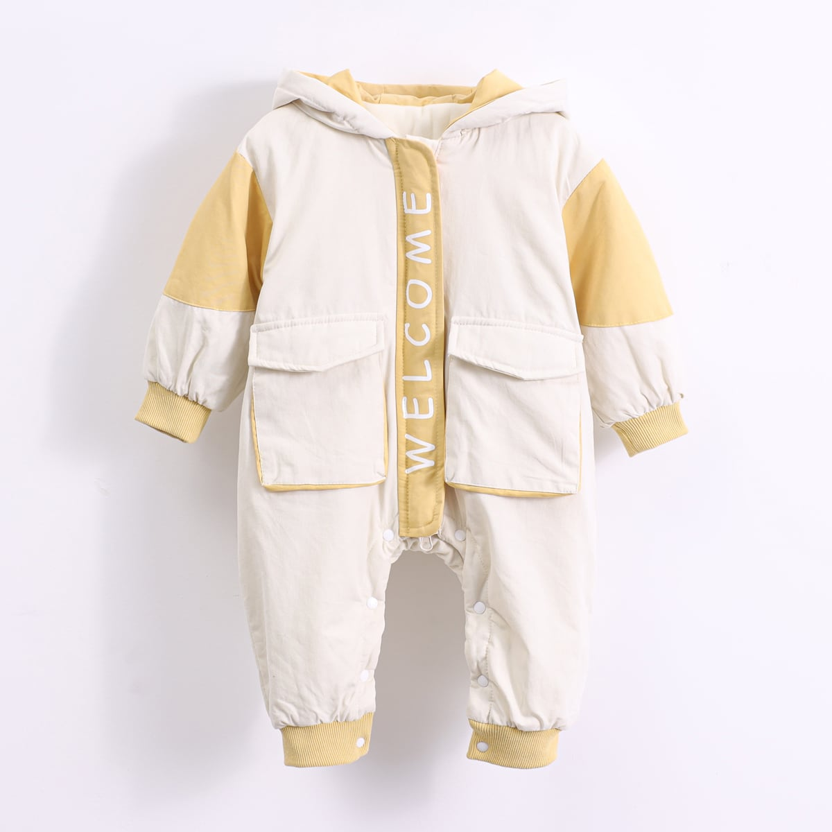 С карманами контрастный цвет повседневный комбинезоны для малышей