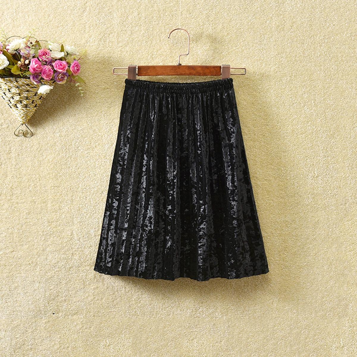 Плиссированное одноцветный повседневный юбки для девочек