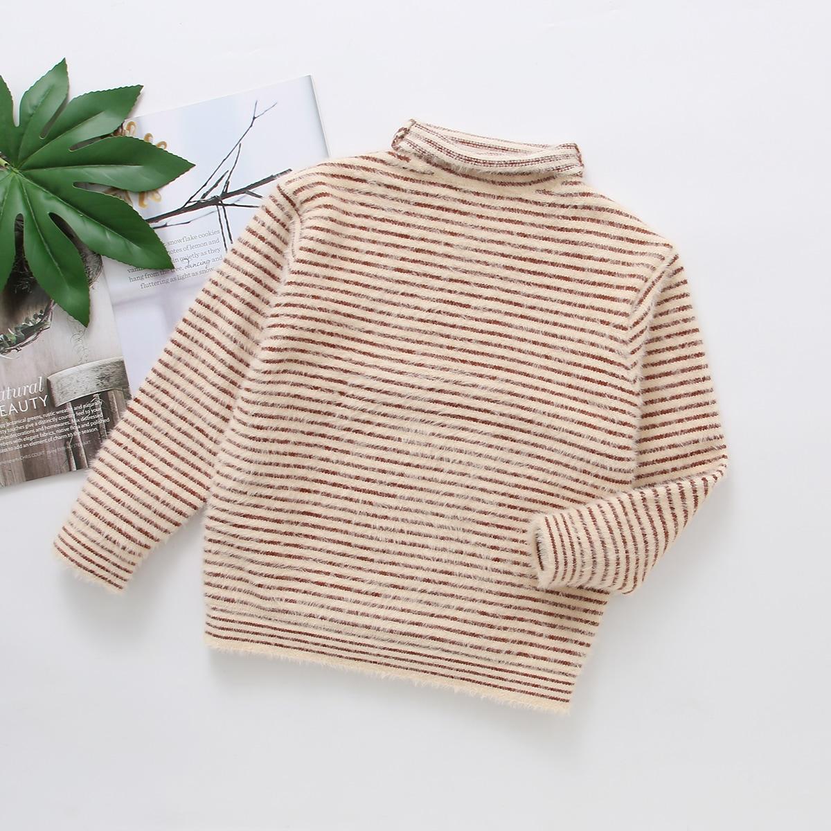 Полосатый повседневный свитера для девочек