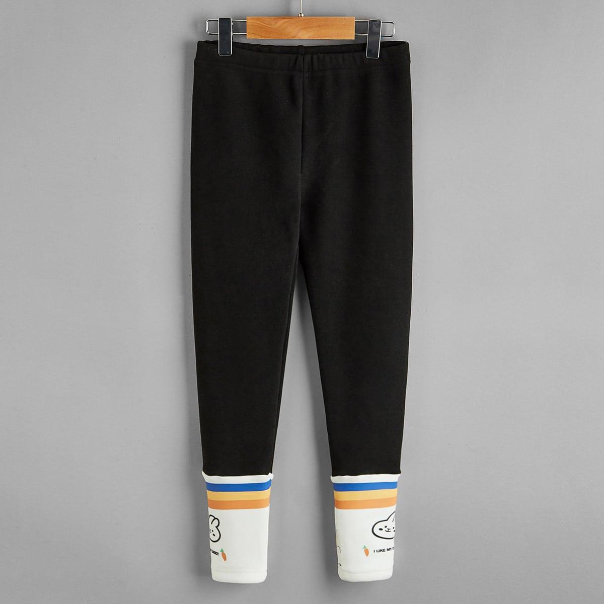 Полосатый повседневный брюки для девочек